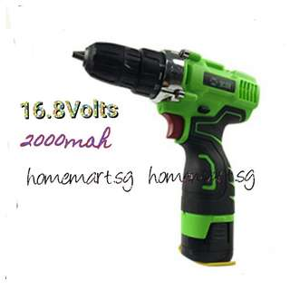 16.8Volts Double Speed Cordless Driver Drill
