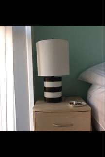 Table Lamp White and Black *2 available*