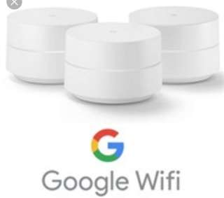 Google wifi mesh 3 pack US set