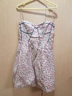Fish print summer dress