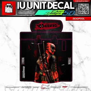 DEADPOOL MOTORSYCYCLE SLIM IU UNIT DECAL