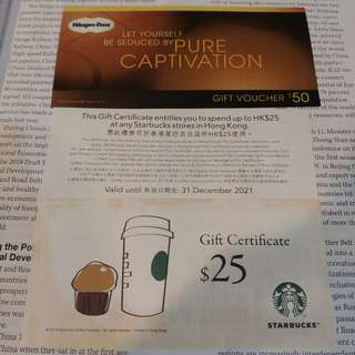 [交換] Starbucks / Haagan Dazs 換 Wellcome Coupons
