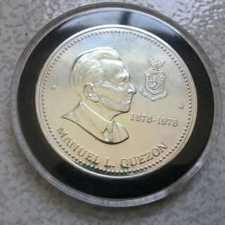 Manuel Quezon 100th Birth Centenary 50 Piso Commemorative Coin 1978
