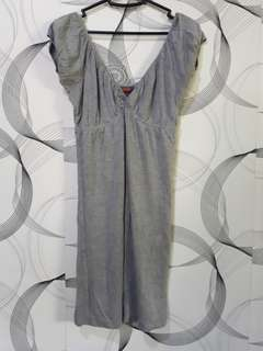 V- Neck Gray Dress