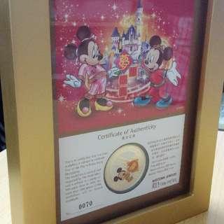 周生生純銀迪士尼紀念幣