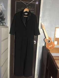 Long sleeves Black Jumpsuiy