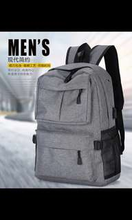 tas ransel backpack dgn carger USB black