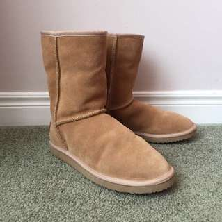 Jessica Simpson JS short leather cow suede ugg boots