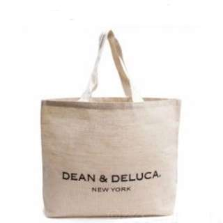 全新 Dean & Deluca Natural Cotton Jute New York Tote bag (Large) 側咩袋