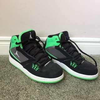 Nike air Jordan's flight 23 green black women's