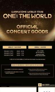 Wanna one official concert goods