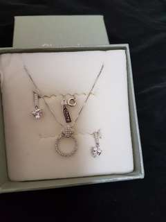 CHOMEL necklace and earrings set
