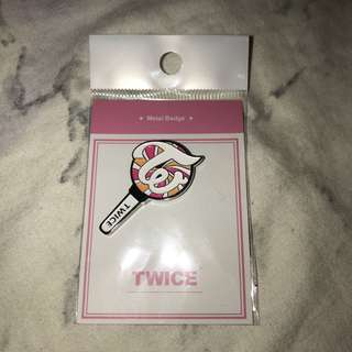 Twice metal badge