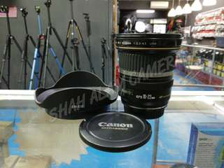 CANON EF-S 10-22MM F3.5-4.5 WIDE LENS