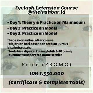 Kursus Eyelash Extension Sambung Bulu Mata