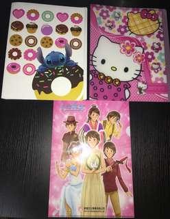 史迪仔/Hello Kitty clear folder & 公主傳奇folder