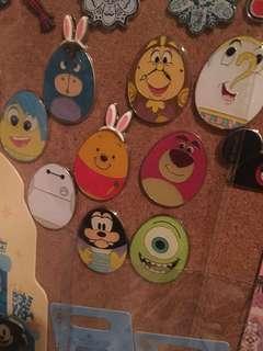 迪士尼徽章 迪士尼襟章 Disney pin 花蛋pin