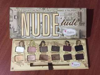 The balm nude tude eyeshadow palette