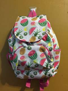 Pink Tropical Backpack