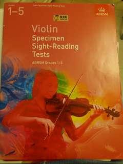 ( 低過半價 平讓) 小提琴教科書共五本