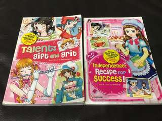 2 Korea Teens Social Education Comics books