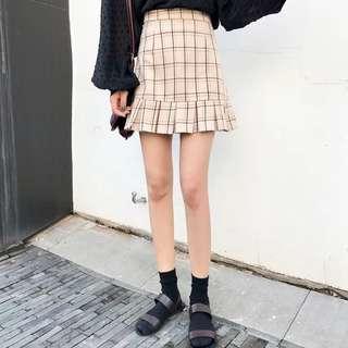 Checkered Korean Skirt
