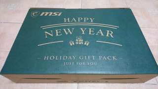 BNIB MSI Holiday Gify Pack! (Mouse, Mousepad & Laptop Bag)
