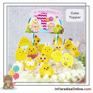 DIY Baby 1st Birthday Cake Topper
