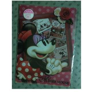 Minnie Mouse L-Shape Plastic File - 3 Layers (A4)