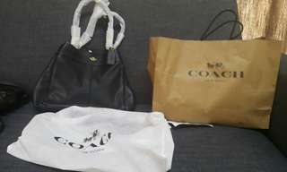 Original Coach Pebbled Leather Lexy Shoulderbag