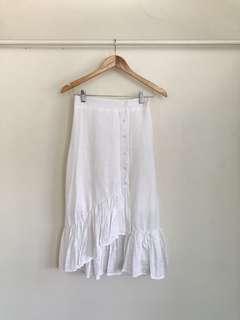 Shopcopper White Ruffle Skirt