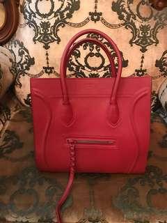Celine Paris luggage bag (red)