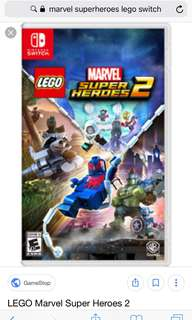 Marvel Superhero LEGO Nintendo switch