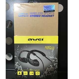 【全新】AWEI 運動 藍芽 耳機 A885BL