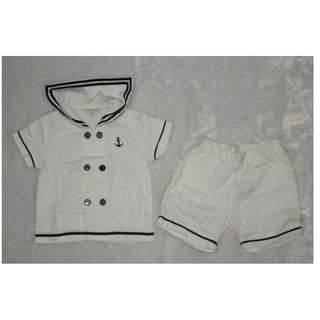 18m Periwinkle Navy Sailor Outfit