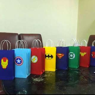 Superhero Themed Paper bags or Goodie Bags