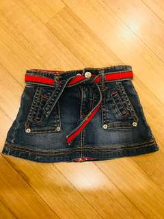 Guess - 12m- girls denim skirt