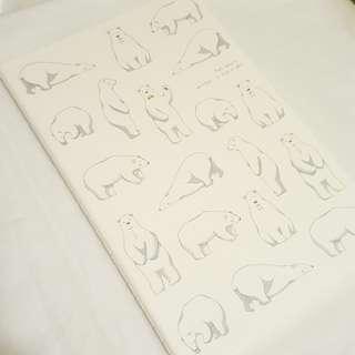 A5 notebook 北極熊 筆記簿 單行 手帳 圖鑑 筆記 記錄