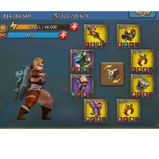 Lords Mobile 800+M (Champ Gears Included!)