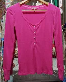 Victoria's secret hot pink long sleeve