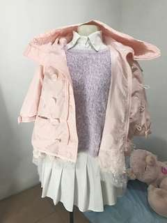 Pink Babygirl Raincoat (Thrifted)