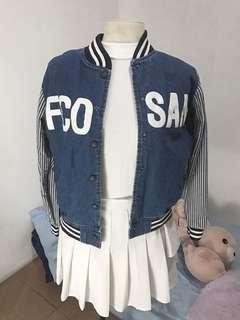 Denim Varsity Jacket