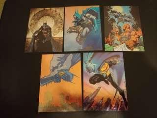 美漫 蝙蝠俠 skybox 特別卡 ㄧ套5張