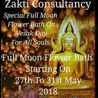 Zakti Full Moon Flower Bath And Vesak Day Flower Bath.