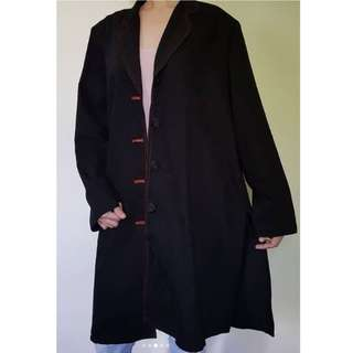 zunao_wearables🌹 Suede overcoat 🌹 Black, color not faded