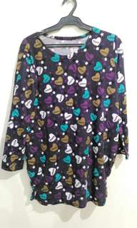 Purple printed thick sleep wear (dress)