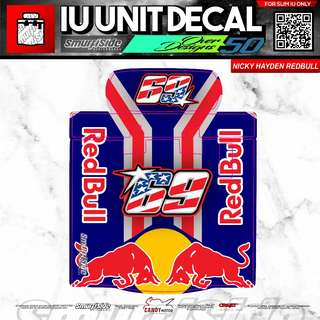 NICKY HAYDEN REDBULL MOTORCYCLE SLIM IU UNIT DECAL