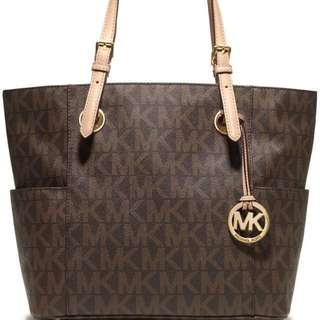 Michael kors monogram medium size