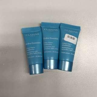 Clarins水潤活肌保濕輕盈乳霜(任何肌膚)5ml x3