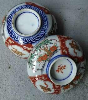 🚚 老日本附蓋彩繪茶碗